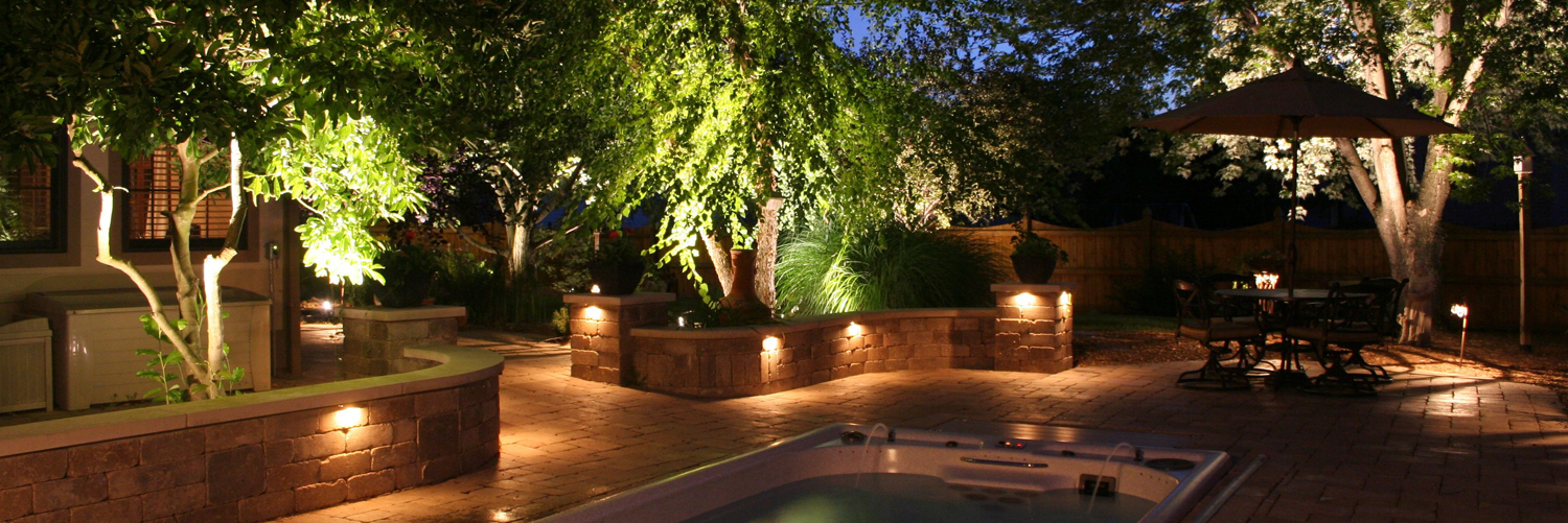 Landscape lighting wow effect wolf creek company