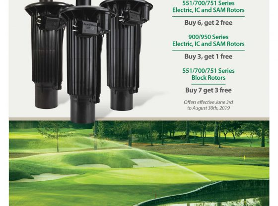 Golf 2019 Summer Promo RainBird rotors
